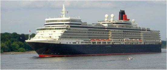 Foto Queen Elizabeth ab Kiel und Hamburg